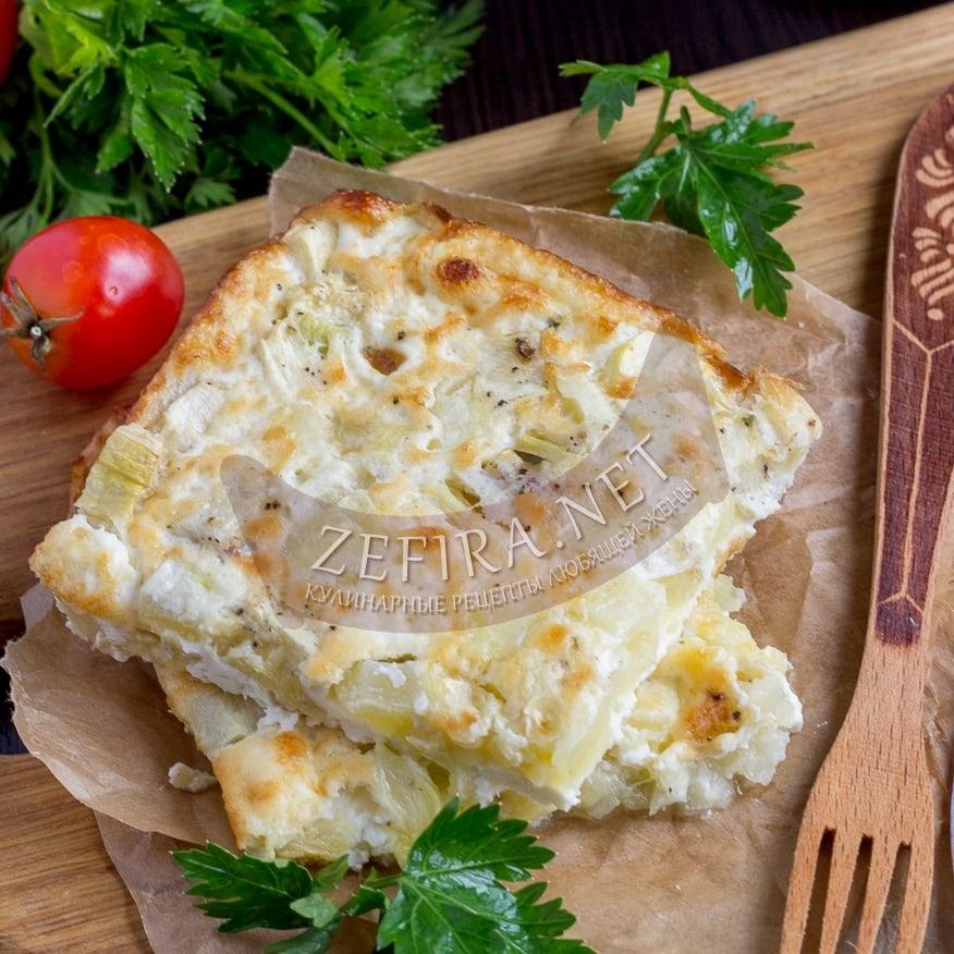 Вкусная запеканка из кабачков с яйцом