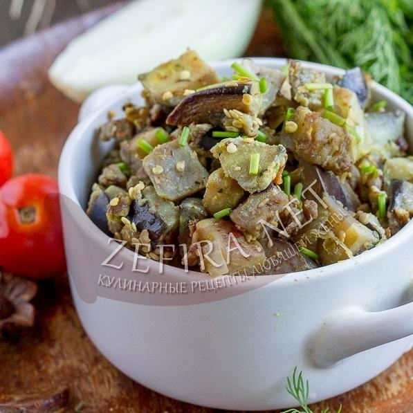 Баклажаны, жаренные с яйцом как грибы