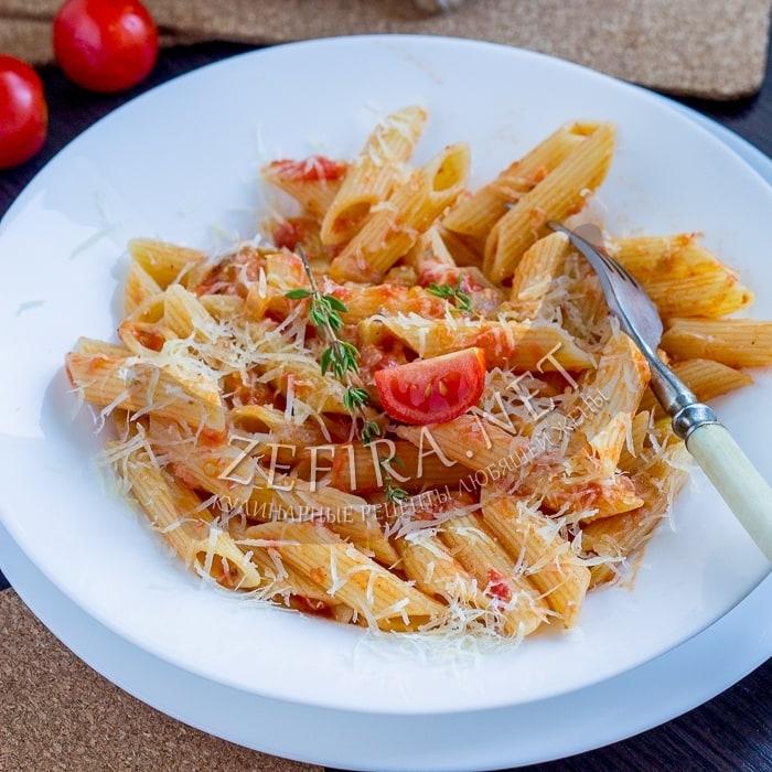 Макароны с кабачками и помидорами – быстрый и вкусный рецепт