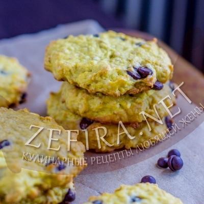 Овсяное печенье с тыквой и шоколадом