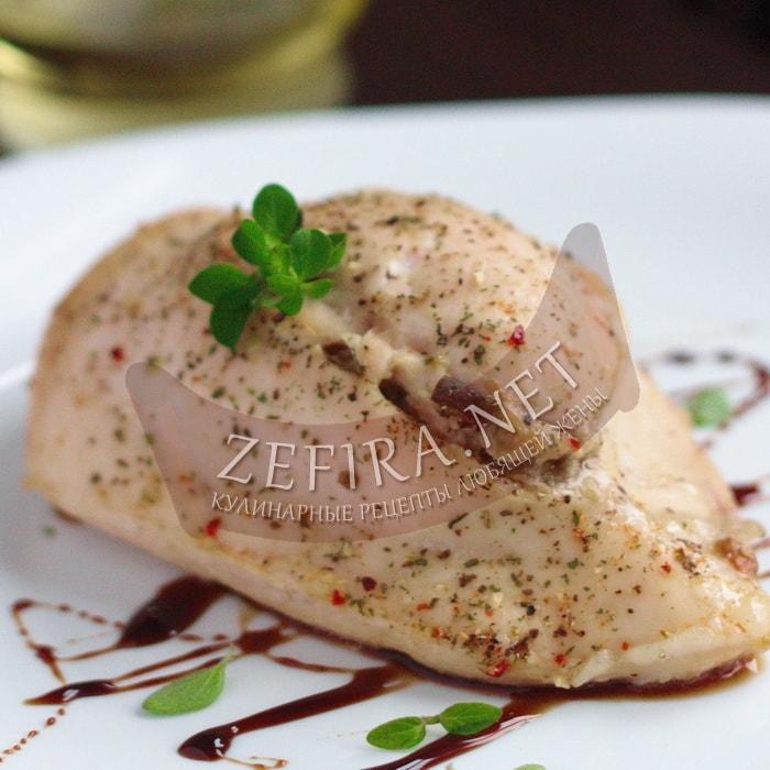 Куриное филе фаршированное грибами с сыром