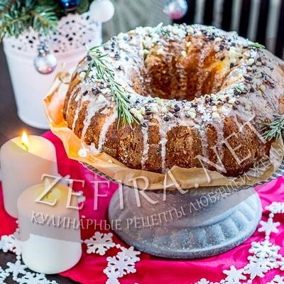 Вкусный творожный кекс с лимоном