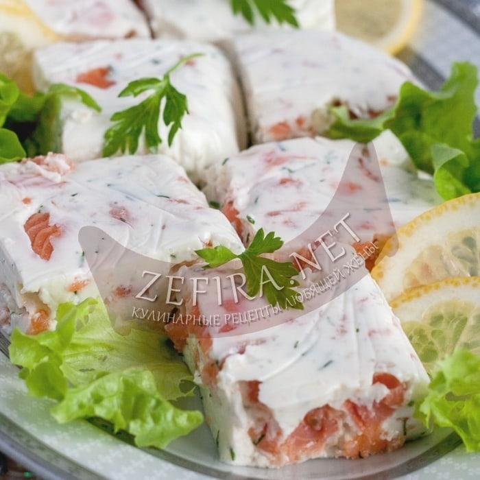 Праздничная закуска из красной рыбы – мусс из рыбы в сливочном креме