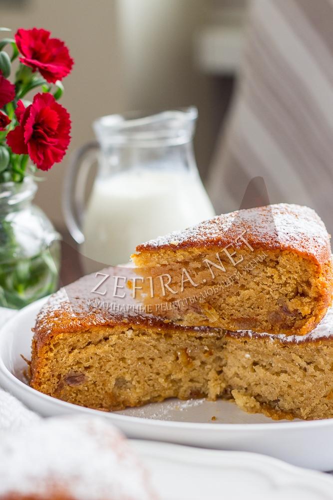 Постный пирог на чайной заварке без яиц - рецепт с фото