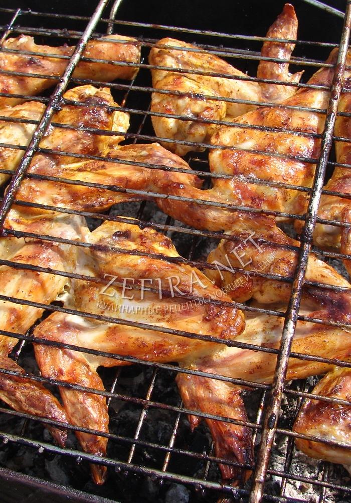 Куриные крылышки в кефире - рецепт с фото