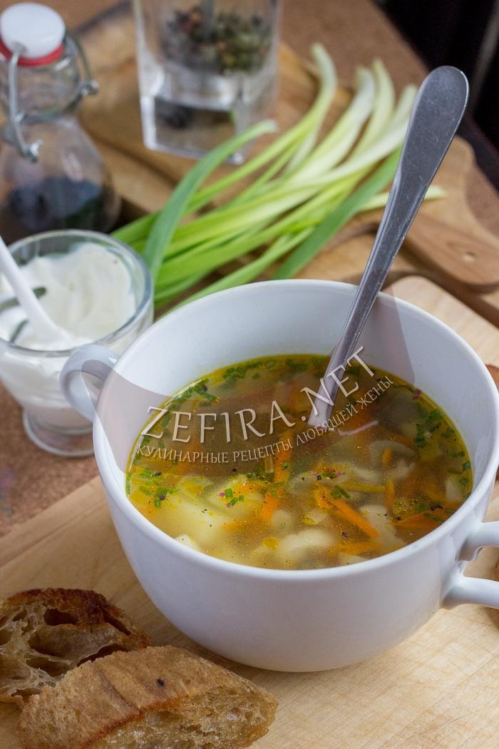 Грибной суп из вешенок с картошкой - рецепт с фото
