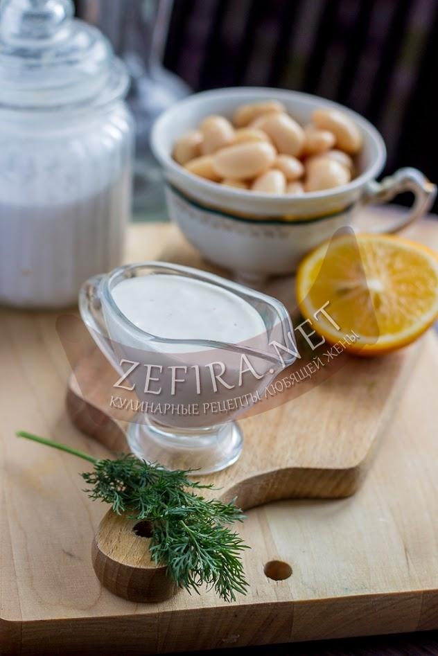 Постный майонез из фасоли - рецепт с фото