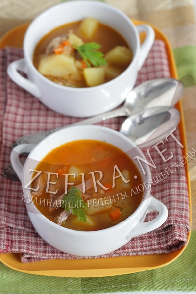 Суп с чечевицей и томатным соком - рецепт с фото