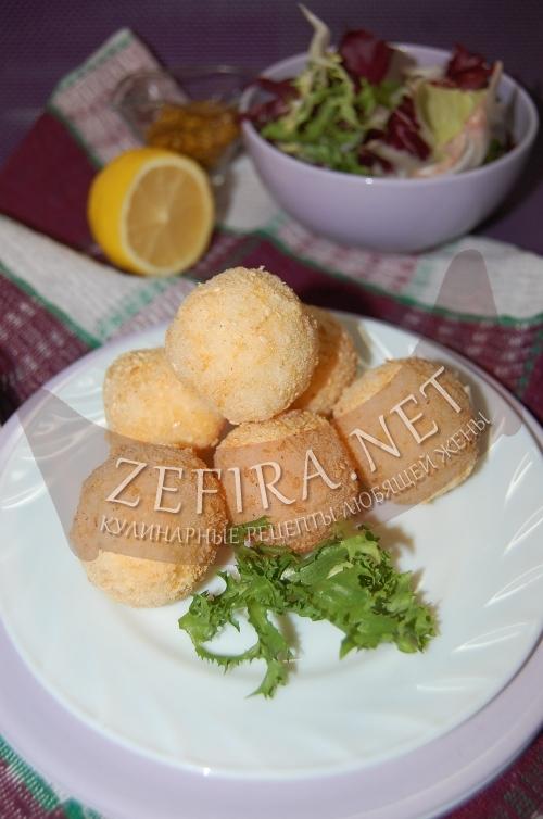 Шарики из риса с сыром