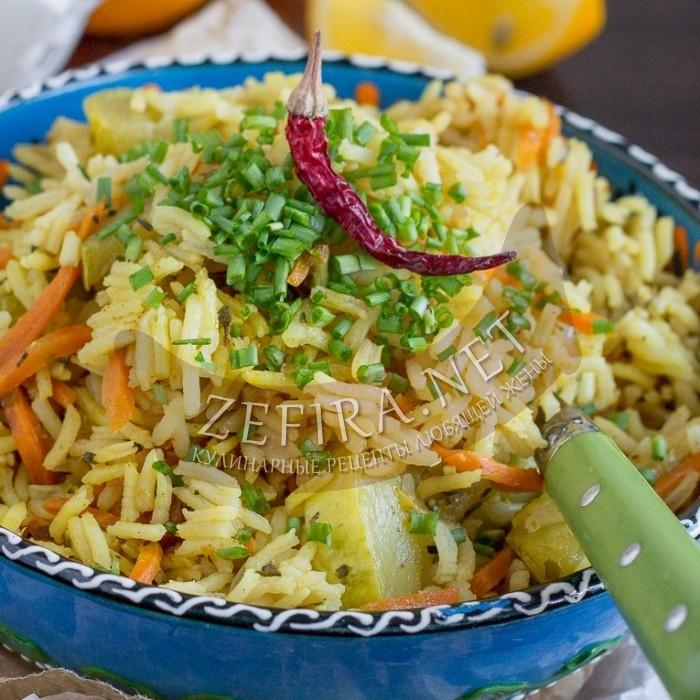 Рецепт рассыпчатого риса с кабачками