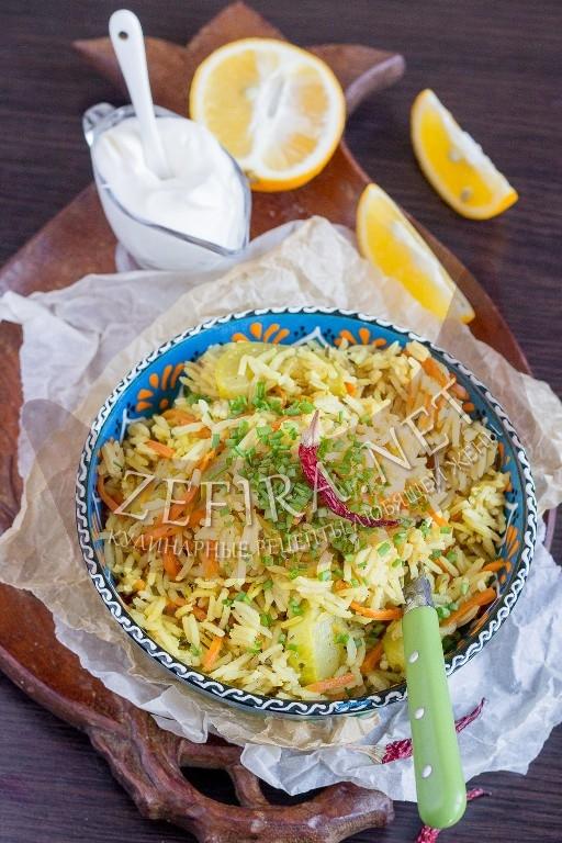 Рецепт рассыпчатого риса с кабачками - рецепт с фото