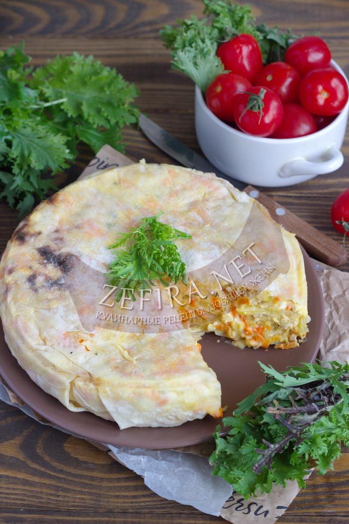 Мясной пирог из лаваша с сыром - рецепт и фото