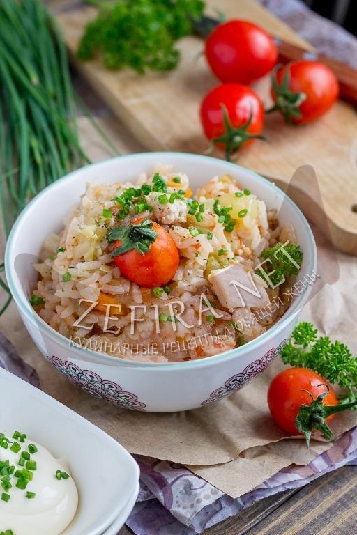 Сочный рис с курицей и кабачками - рецепт и фото