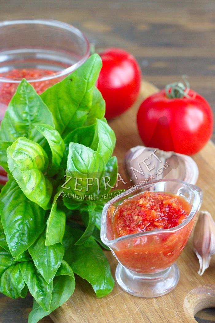 Домашний томатный соус из помидор - рецепт и фото