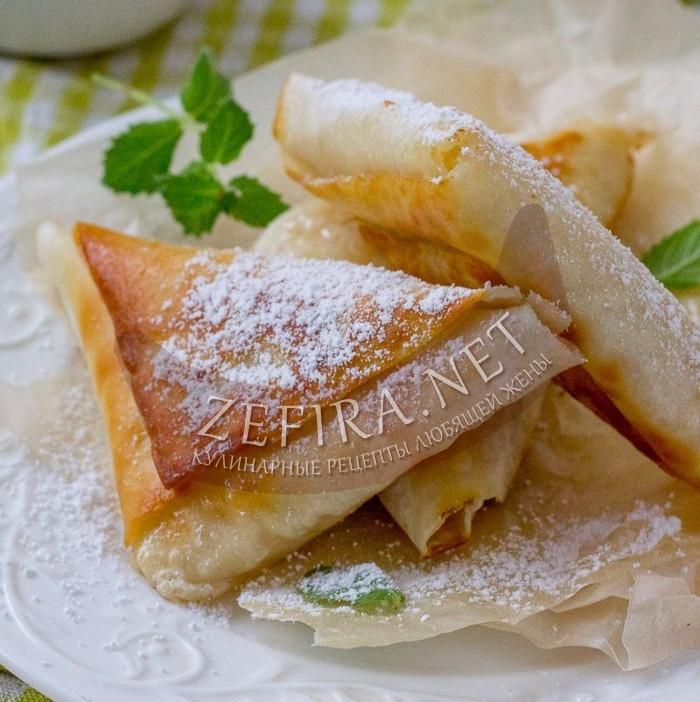 Ленивые пирожки с яблоками на сковороде