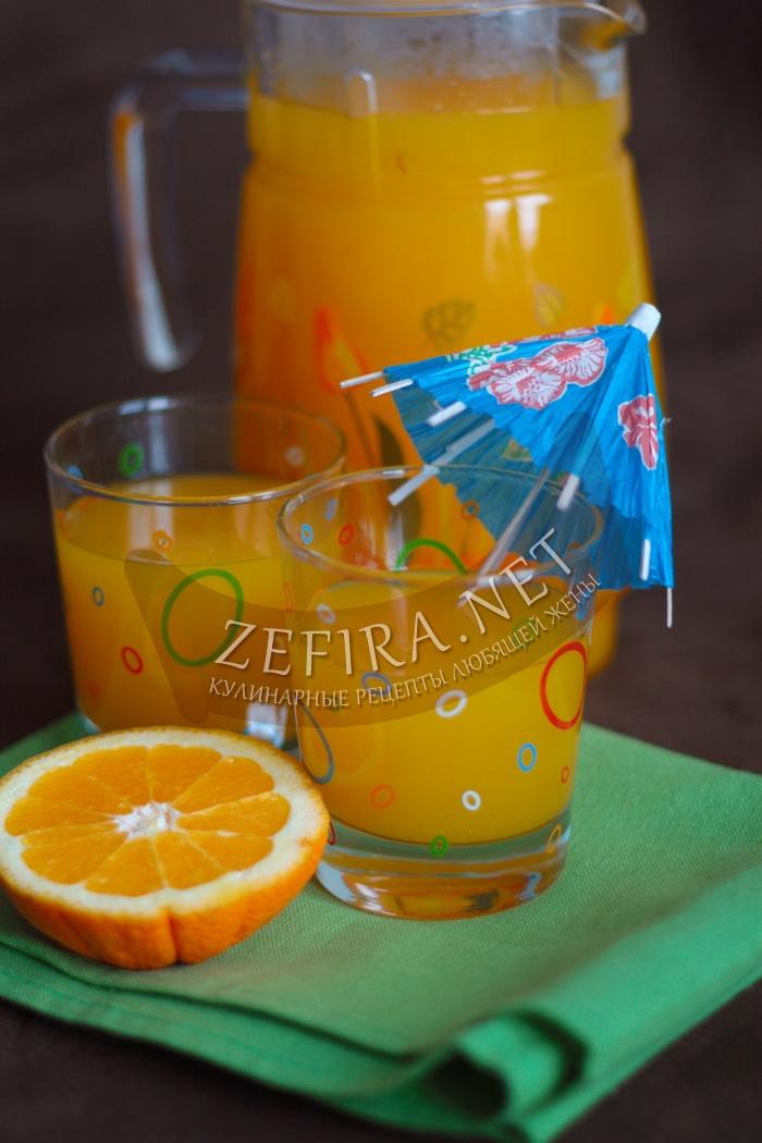 Домашняя фанта из апельсинов - рецепт и фото