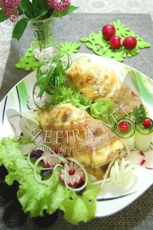 Рецепт куриного филе, фаршированного грибами и картофелем - рецепт и фото