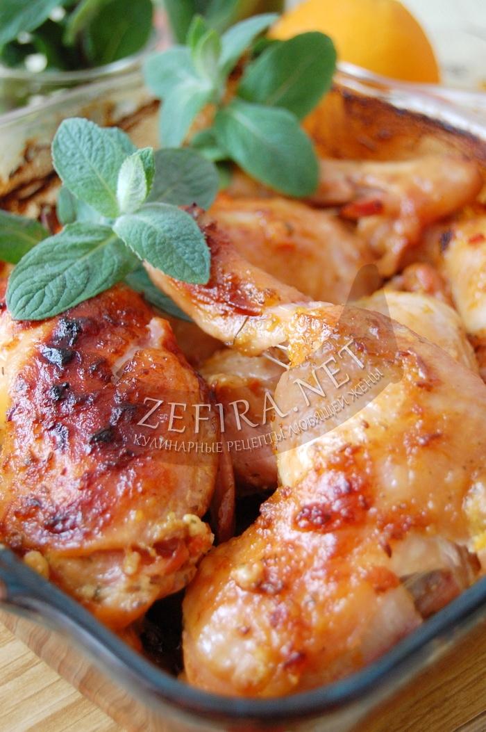Куриные окорочка, запеченные в духовке - рецепт и фото