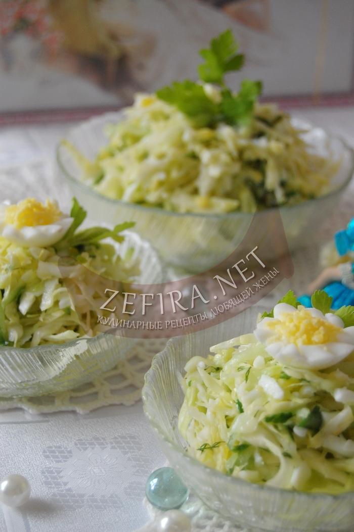 Вкусный салат из капусты для праздничного стола - рецепт и фото