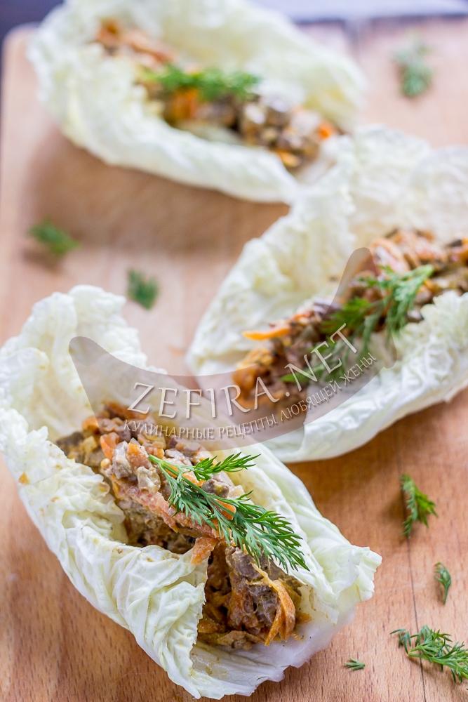 Салат из куриной печени с морковью и луком - рецепт и фото