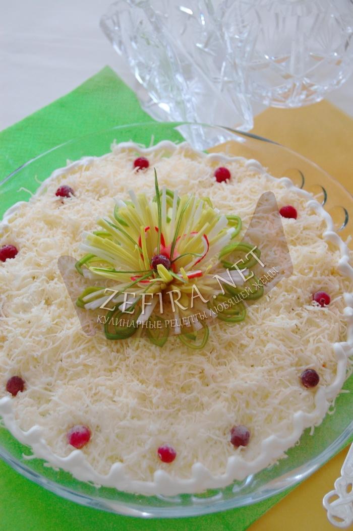 Рецепт оригинального салата из крабовых палочек - рецепт и фото