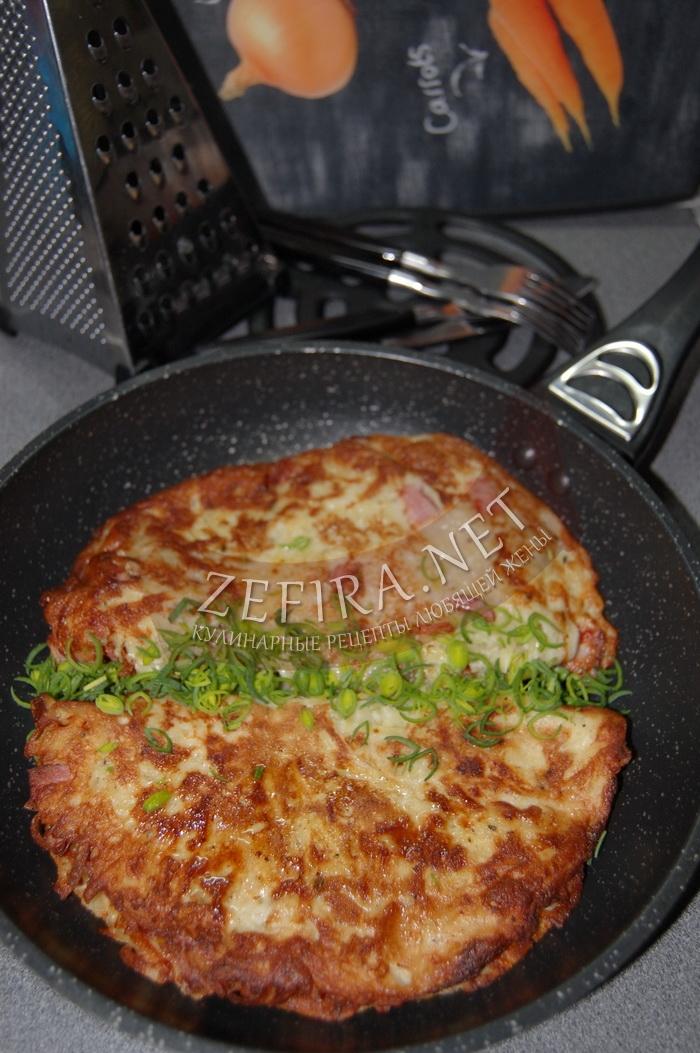 Вкусные картофельные блины с ветчиной - рецепт и фото