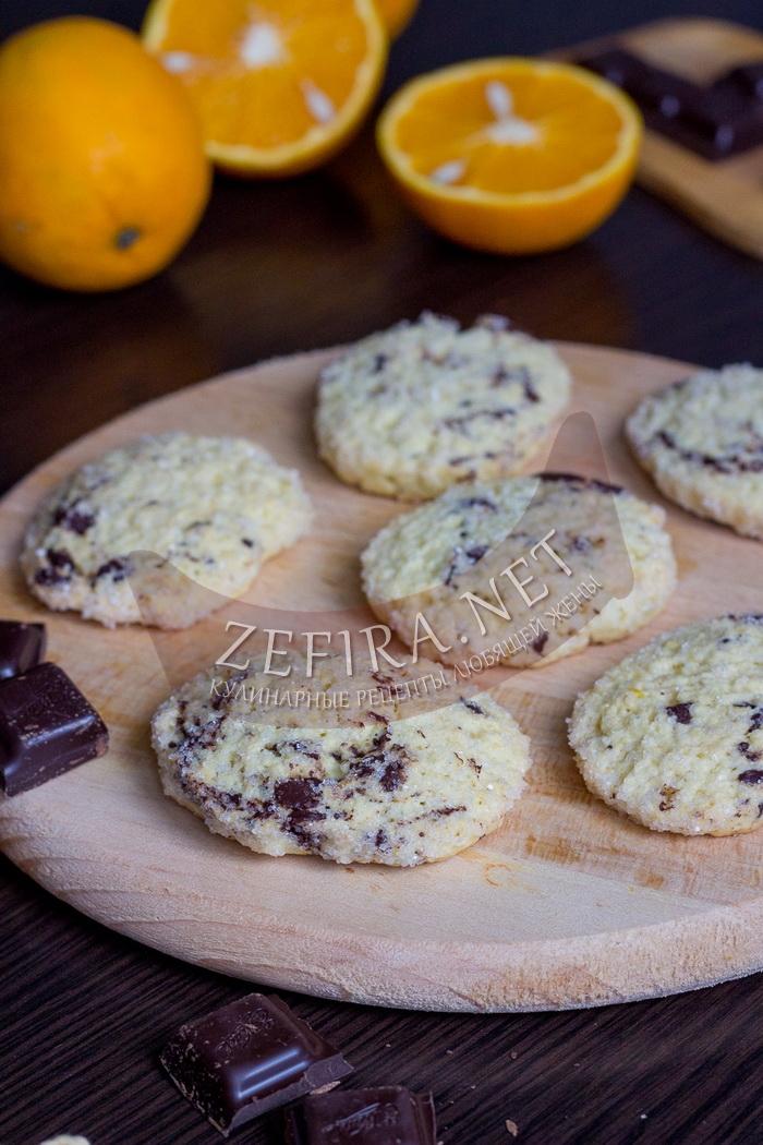 Печенье с апельсином и кусочками шоколада - рецепт и пошаговые фото
