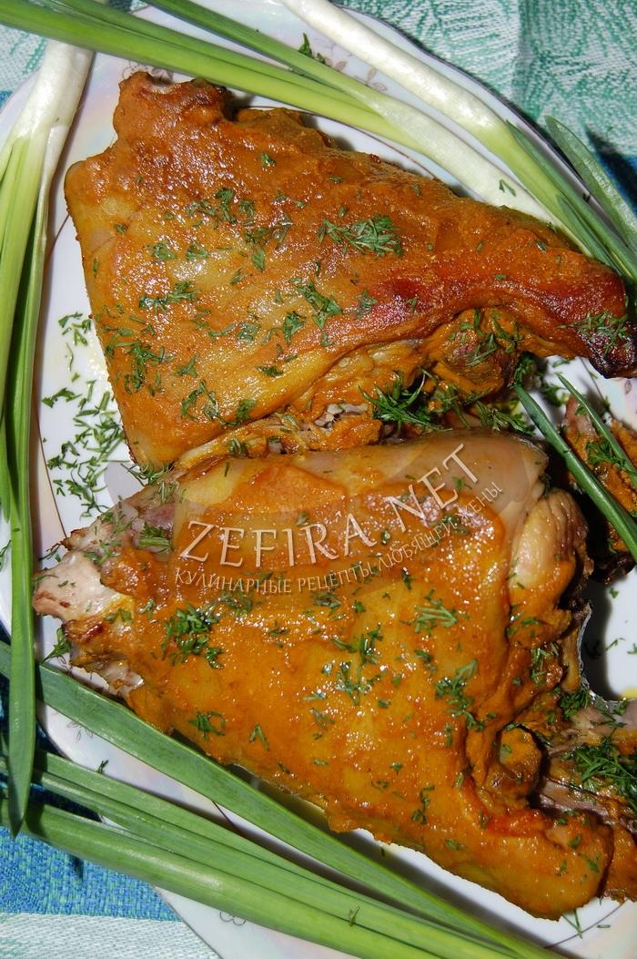 Свиная рулька, запеченная в духовке в глазури - рецепт и фото