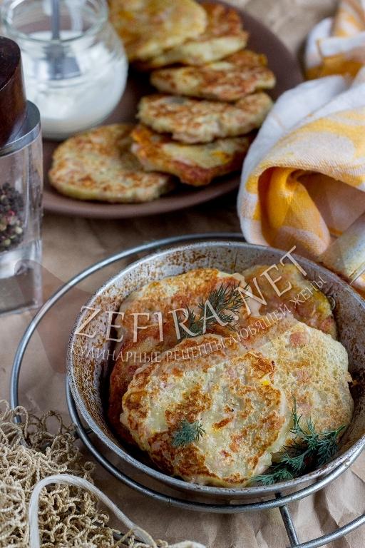 Картофельные драники с ветчиной и сыром - рецепт и пошаговые фото