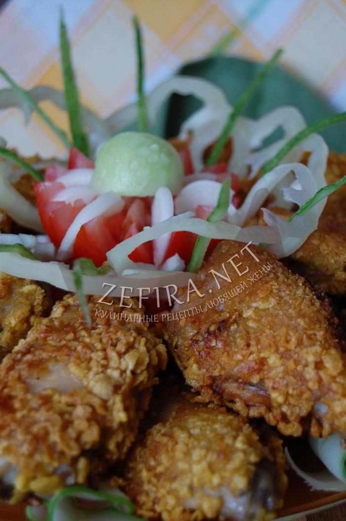 Рецепт вкусных хрустящих куриных крылышек - с фото