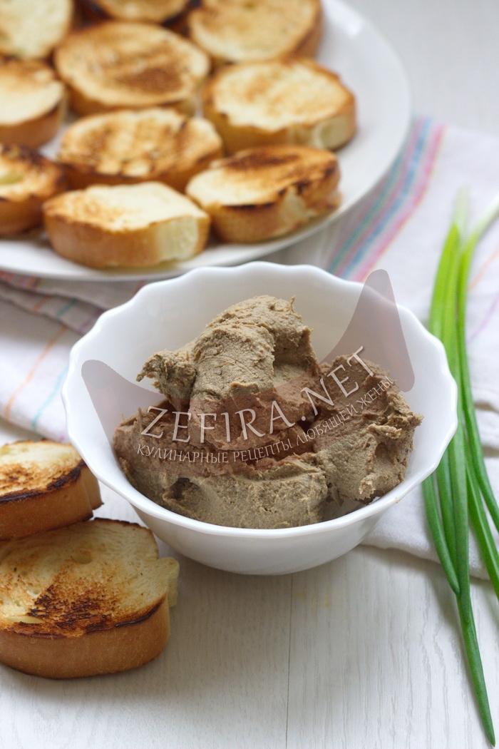 Простой рецепт вкусного домашнего паштета из печени с фото