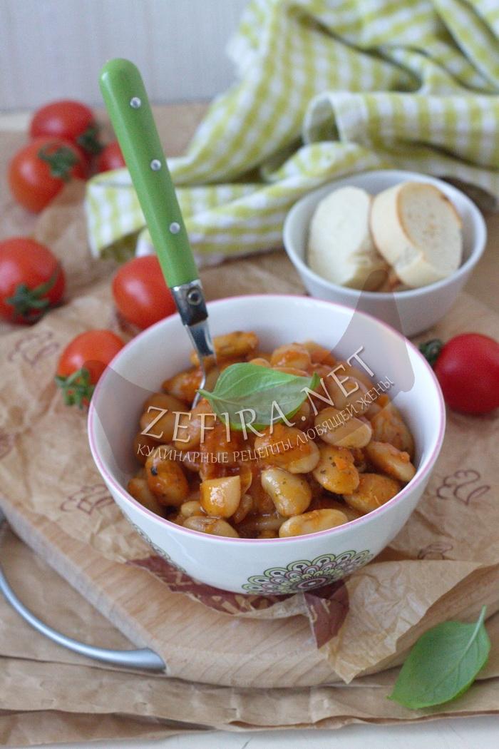 Фасоль тушеная с овощами - рецепт и фото