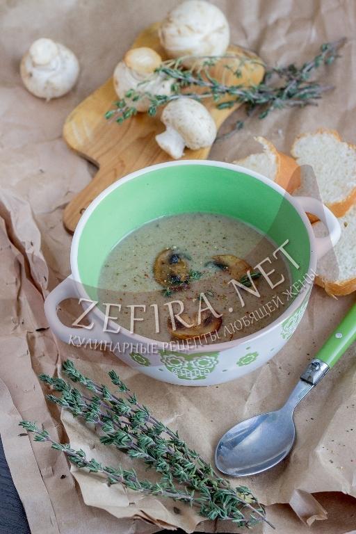 Вкусный рисовый суп-пюре без картошки с грибами - рецепт и фото