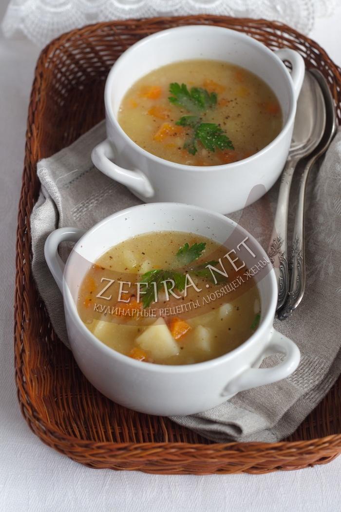 Рецепт вкусного горохового супа на ребрышках - с фото