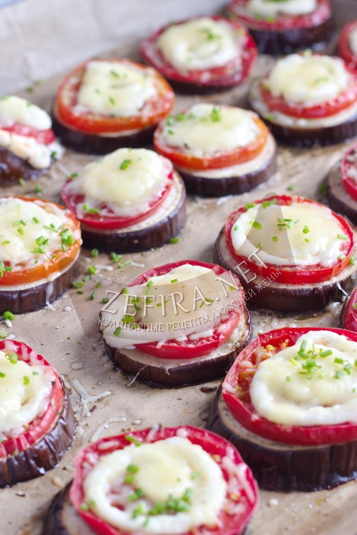 Запеченные баклажаны с сыром и помидорами - рецепт пошаговый с фото