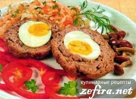 Мясные котлеты с начинкой яйца