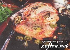 Запеченое мясо с киви