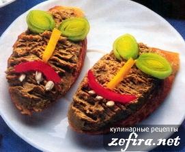 Паштет из печенки с овощами