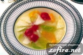 Постный суп с пекинской капустой