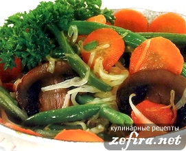 Рецепт овощного гарнира