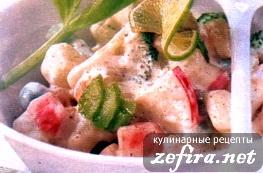 Овощной салат - весенний рецепт с огурцом