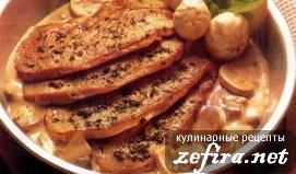 Шницели со сливочно-грибным соусом