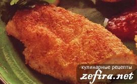 Куриное филе с миндальной корочкой
