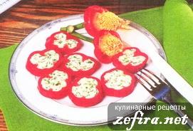 Перец сладкий, фаршированный творогом – хороший рецепт к праздничному столу