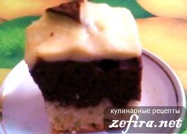 Рецепт  шоколадно-ванильного пирога со сметаной