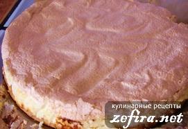 Рецепт воздушного пирога с творожной начинкой