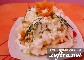 Салат с кальмарами «Адмиралтейский»
