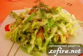 Салат из свежих овощей «Майский»