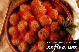 Домашний рецепт мясных тефтелей