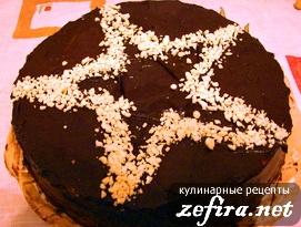 Шоколадно-банановый торт «Звезда» ко Дню Победы